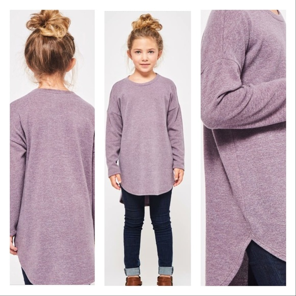 Oversized Girls Hi Lo Sweater